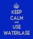KEEP CALM AND USE WATERLASE - Personalised Tea Towel: Premium