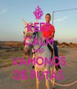 KEEP CALM AND VAMONOS DE PUTAS - Personalised Tea Towel: Premium