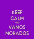 KEEP CALM AND VAMOS MORADOS - Personalised Tea Towel: Premium