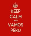 KEEP CALM AND VAMOS PERU - Personalised Tea Towel: Premium