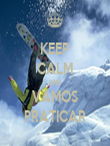KEEP CALM AND VAMOS PRATICAR - Personalised Tea Towel: Premium