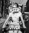 KEEP CALM AND VAMOS VIVER - Personalised Tea Towel: Premium