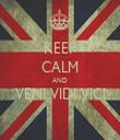 KEEP CALM AND VENI VIDI VICI  - Personalised Tea Towel: Premium