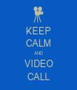 KEEP CALM AND VIDEO CALL - Personalised Tea Towel: Premium