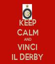 KEEP CALM AND VINCI IL DERBY - Personalised Tea Towel: Premium