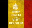 KEEP CALM AND VISIT BELGIUM - Personalised Tea Towel: Premium