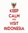 KEEP CALM AND VISIT INDONESIA - Personalised Tea Towel: Premium