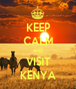 KEEP CALM AND VISIT KENYA - Personalised Tea Towel: Premium