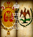 KEEP CALM AND VISIT MEXICO - Personalised Tea Towel: Premium