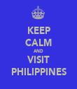 KEEP CALM AND VISIT PHILIPPINES - Personalised Tea Towel: Premium