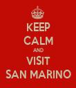 KEEP CALM AND VISIT SAN MARINO - Personalised Tea Towel: Premium