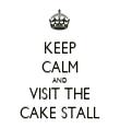 KEEP CALM AND VISIT THE CAKE STALL - Personalised Tea Towel: Premium