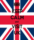 KEEP CALM and  VISIT UK - Personalised Tea Towel: Premium
