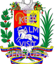 KEEP CALM AND VISIT VENEZUELA - Personalised Tea Towel: Premium