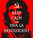 KEEP CALM AND VIVA LA REVOLUCION - Personalised Tea Towel: Premium
