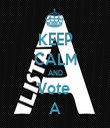 KEEP CALM AND Vote  A - Personalised Tea Towel: Premium