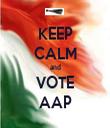 KEEP CALM and VOTE AAP - Personalised Tea Towel: Premium