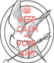 KEEP CALM AND VOTE  AIM! - Personalised Tea Towel: Premium