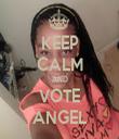 KEEP CALM AND VOTE ANGEL - Personalised Tea Towel: Premium