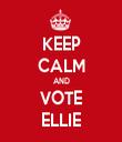 KEEP CALM AND VOTE ELLIE - Personalised Tea Towel: Premium