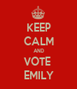 KEEP CALM AND VOTE  EMILY - Personalised Tea Towel: Premium
