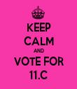 KEEP CALM AND VOTE FOR 11.C - Personalised Tea Towel: Premium