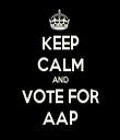 KEEP CALM AND VOTE FOR AAP - Personalised Tea Towel: Premium