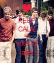 KEEP CALM AND vote for janet - Personalised Tea Towel: Premium