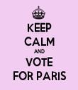KEEP CALM AND VOTE FOR PARIS - Personalised Tea Towel: Premium
