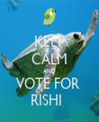 KEEP CALM AND VOTE FOR  RISHI   - Personalised Tea Towel: Premium