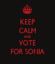 KEEP CALM AND VOTE FOR SONIA - Personalised Tea Towel: Premium