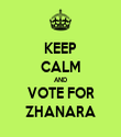 KEEP CALM AND VOTE FOR ZHANARA - Personalised Tea Towel: Premium