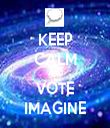 KEEP CALM AND VOTE IMAGINE - Personalised Tea Towel: Premium