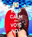 KEEP CALM AND VOTE NO.1 - Personalised Tea Towel: Premium
