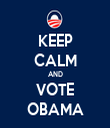 KEEP CALM AND VOTE OBAMA - Personalised Tea Towel: Premium