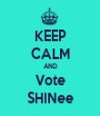 KEEP CALM AND Vote SHINee - Personalised Tea Towel: Premium