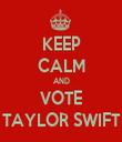 KEEP CALM AND VOTE TAYLOR SWIFT - Personalised Tea Towel: Premium