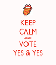 KEEP CALM AND VOTE YES & YES - Personalised Tea Towel: Premium