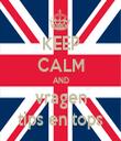 KEEP CALM AND vragen tips en tops - Personalised Tea Towel: Premium