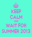 KEEP CALM AND WAIT FOR SUMMER 2013 - Personalised Tea Towel: Premium