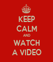 KEEP CALM AND WATCH A VIDEO - Personalised Tea Towel: Premium