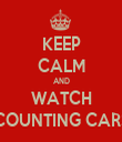 KEEP CALM AND WATCH COUNTING CARS - Personalised Tea Towel: Premium