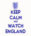 KEEP CALM AND WATCH ENGLAND - Personalised Tea Towel: Premium