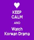 KEEP CALM AND Watch Korean Drama - Personalised Tea Towel: Premium