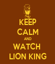 KEEP CALM AND WATCH  LION KING - Personalised Tea Towel: Premium