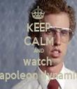 KEEP CALM AND watch  Napoleon dynamite - Personalised Tea Towel: Premium
