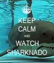 KEEP CALM AND WATCH SHARKNADO - Personalised Tea Towel: Premium