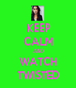 KEEP CALM AND WATCH TWISTED - Personalised Tea Towel: Premium