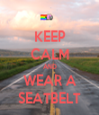 KEEP CALM AND WEAR A SEATBELT - Personalised Tea Towel: Premium
