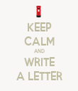 KEEP CALM AND WRITE A LETTER - Personalised Tea Towel: Premium